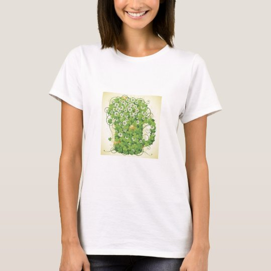 Irish clover mug greens cartoon plantes fun drinks T-Shirt