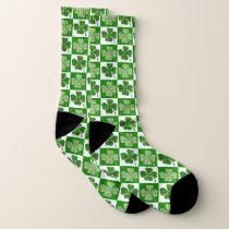 Irish Clover Pattern Socks