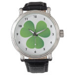 Irish clover St. Patrick's Day custom Wrist Watch