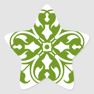 Irish Clover Star Sticker