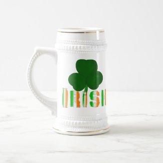 Irish Clover Stein mug