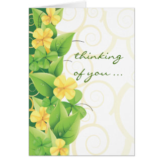 Irish Clover Thinking of You Notecard Stationery Note Card