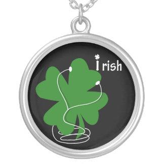 iRish Clover w/Text Custom Necklace