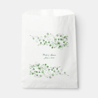 Irish Clover Wedding favor bags