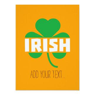 Irish cloverleaf shamrock Z2n9r Card