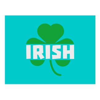 Irish cloverleaf shamrock Z2n9r Postcard
