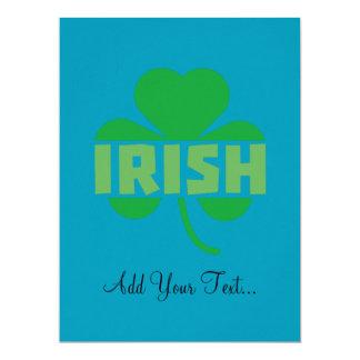 Irish cloverleaf shamrock Z9t2d Card