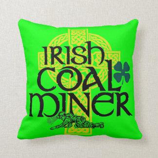 IRISH COAL MINER THROW PILLOW