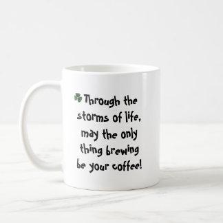 Irish coffee blessing mug