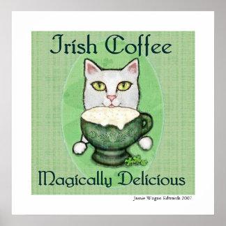 Irish Coffee Cat St. Patrick's Day Art Print