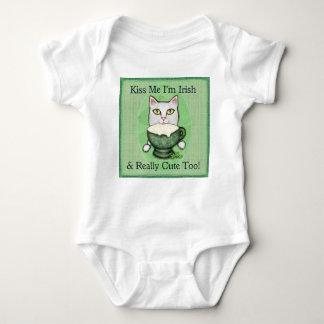 Irish Coffee Cat, St. Patrick's Day Baby Bodysuit