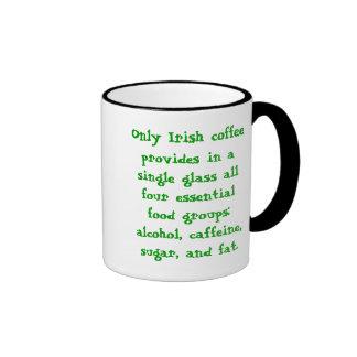 Irish Coffee Cup Ringer Coffee Mug