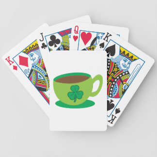 IRISH coffee CUP with a shamrock Bicycle Playing Cards
