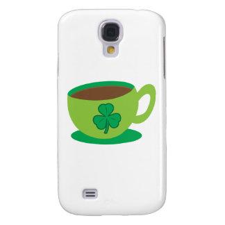 IRISH coffee CUP with a shamrock Samsung Galaxy S4 Case