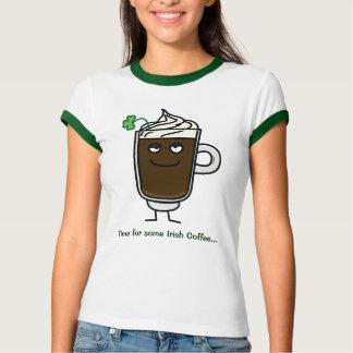Irish coffee drink alcohol lucky green clover T-Shirt