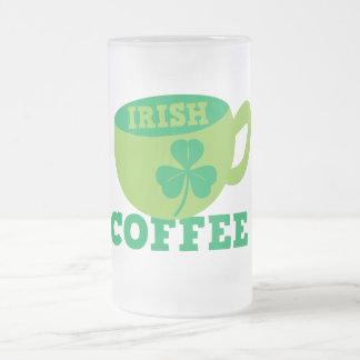 Irish Coffee Frosted Glass Beer Mug