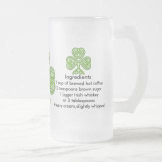 Irish Coffee Frosted Glass Mug