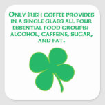 Irish Coffee Square Sticker