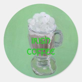 """Irish Coffee"" Classic Round Sticker"
