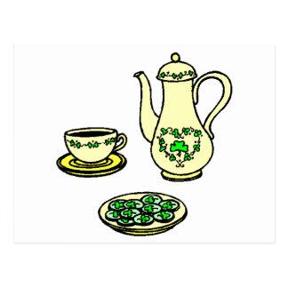 Irish Coffee / Tea Set St. Patrick's Day Postcard