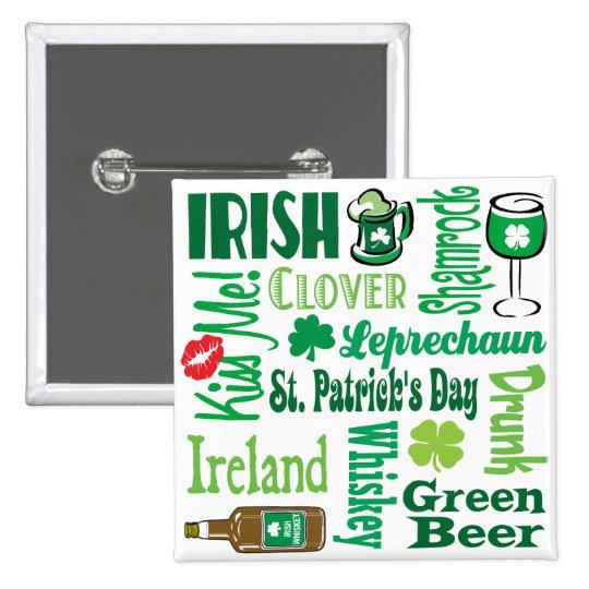 Irish Collage Pinback Button