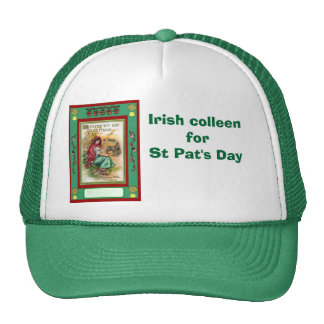 Irish colleen for St Pat's Day Hat