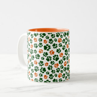 Irish-Colored Paw Print Mug