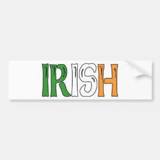 Irish Colors Bumper Sticker