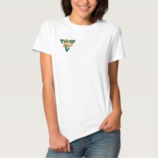 Irish Colors Celtic Irish Symbol Pattern Embroidered Shirt