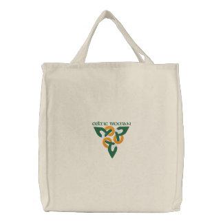 Irish Colors Celtic Knotwork Design Pattern Canvas Bag