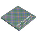 Irish Colors Clan MacAuliffe McAuliffe Tartan Gallery Wrap