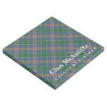 Irish Colors Clan MccAuliffe MacAuliffe Tartan Gallery Wrap