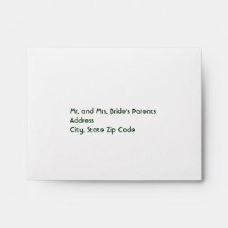 Irish Colors Clover Wedding Envelopes