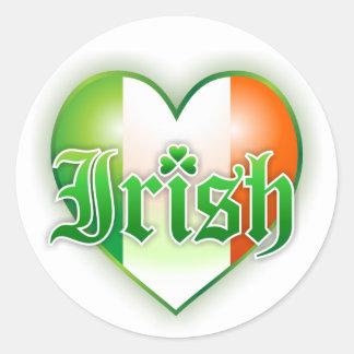 Irish Colors Heart Sticker