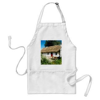 Irish cottage adult apron