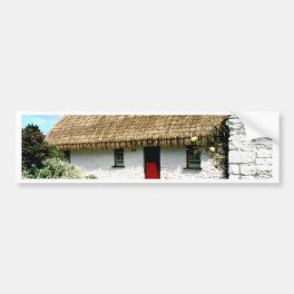 Irish cottage bumper sticker