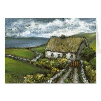 Irish cottage card