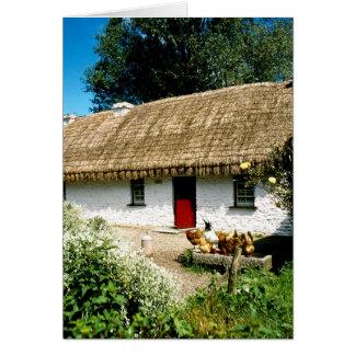 Irish cottage card