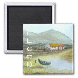 Irish Cottage Dishwasher Magnet CLEAN by Bonhovey