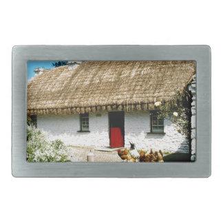 Irish cottage rectangular belt buckle
