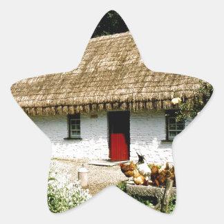 Irish cottage star sticker