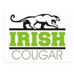 Irish Cougar Gift Post Card