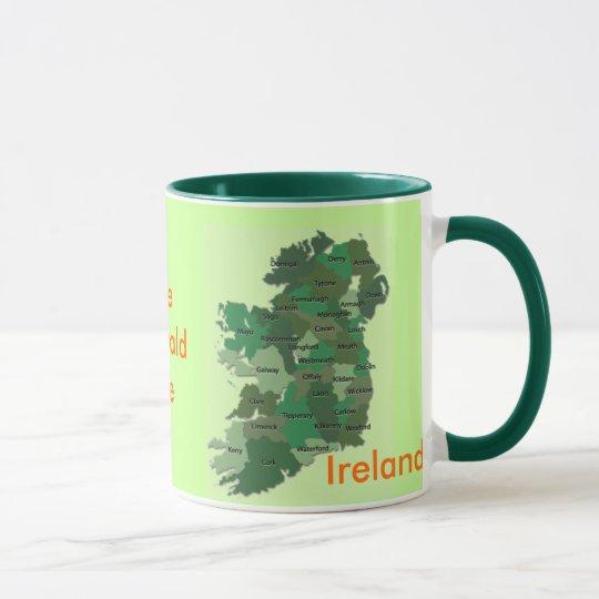 Irish Counties Map Ireland Mug