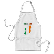 Irish country flag adult apron