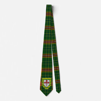 Irish County Donegal With Crest Tartan Tie