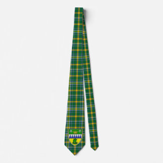 Irish County Kerry With Crest Tartan Tie
