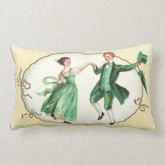 Irish Couple Dancing Vintage St Patrick's Day Lumbar Pillow