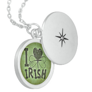 Irish Cover luck custom personalize Anniversaries Sterling Silver Necklace