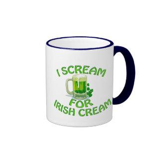 Irish Cream I Scream Coffee Mugs