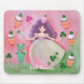 Irish Cupcake Princess Painting Mousepads
